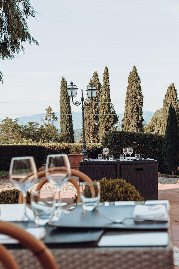 Villa Castiglione - catering in terrazza