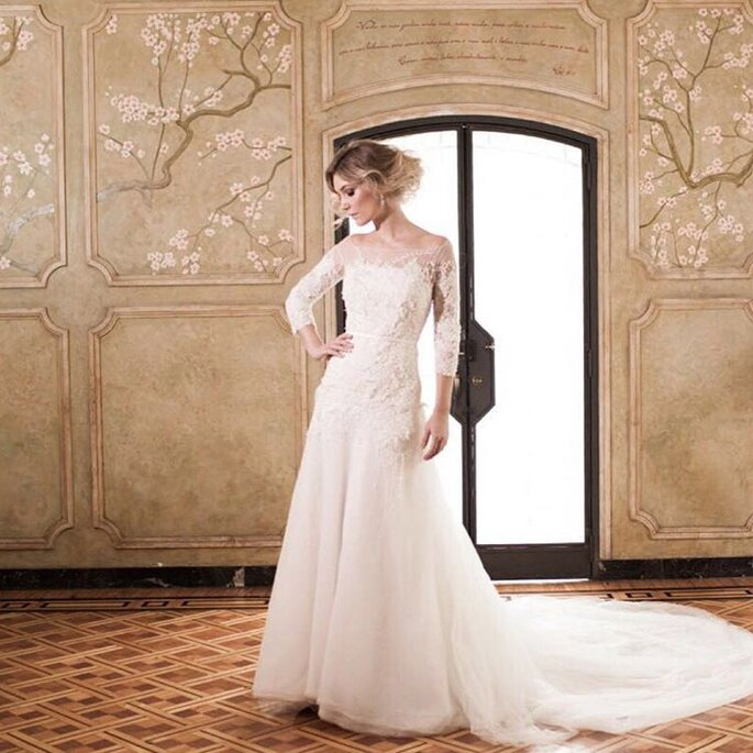 Vestido de noiva contemporâneo