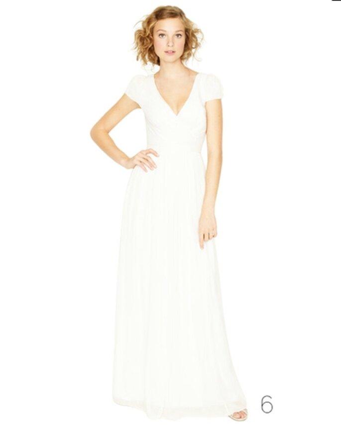 Vestido de novia de estilo sencillo - Foto: JCrew Wedding Collection 2012