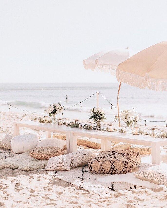 Une décoration fleurie et cocooning aux tons pastels en bord de mer