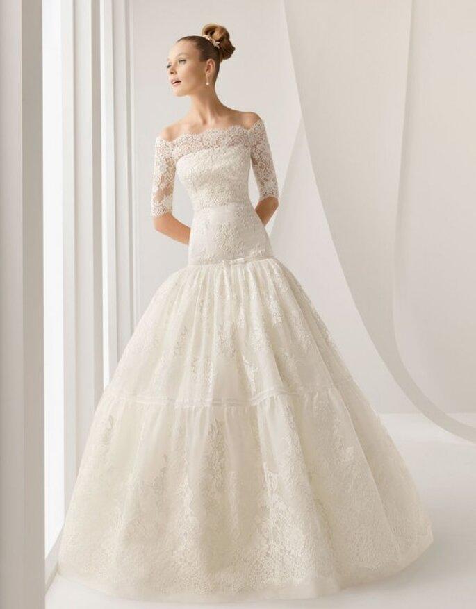 Vestido de novia Rosa Clará con encaje en el corsé
