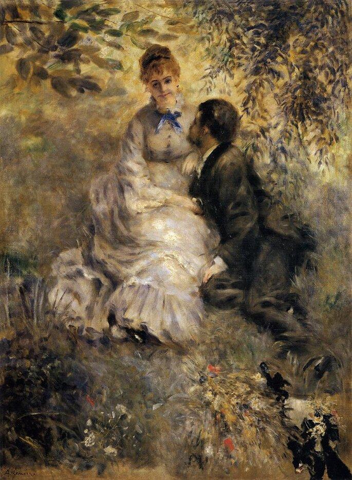 Los enamorados, de Renoir