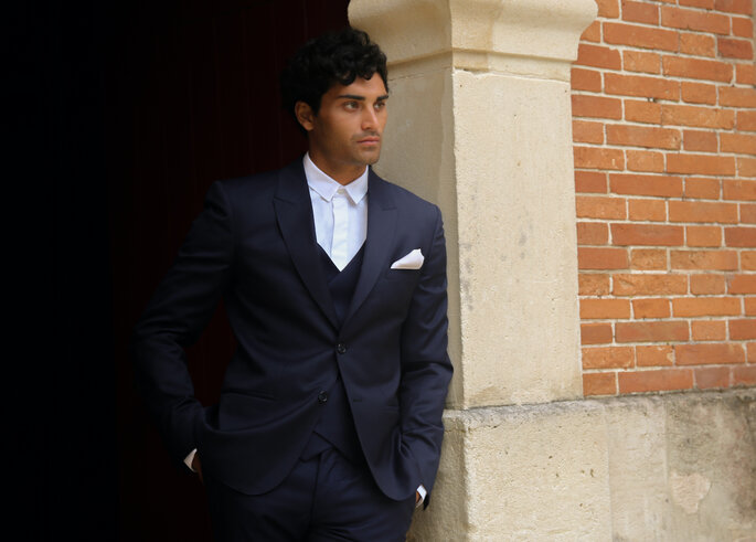 Veste Marlon, gilet Gaspard, pantalon Daniel, chemise Karl de la collection Mariage de L.I.L.A.R