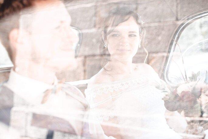 Photo originale de mariés