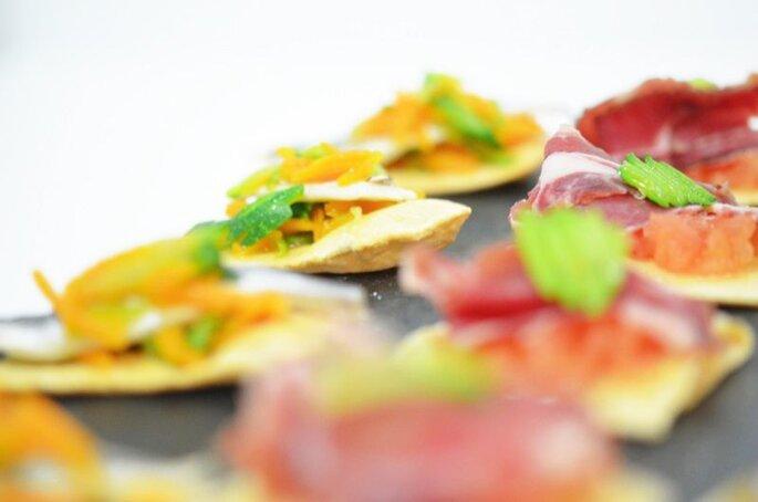 Des toasts colorés pour un superbe apéritif, cocktail ou vin d'honneur de mariage