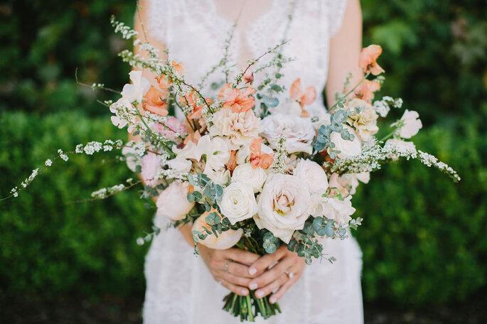 Ramo de novia natural en tonos pastel