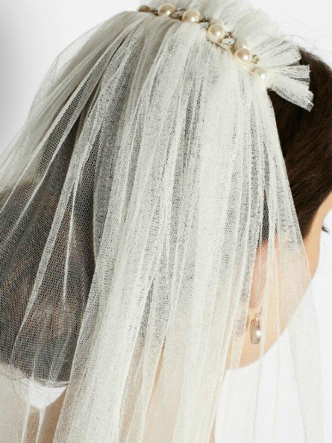 Un velo de novia en clásico tul - Foto Lanvin