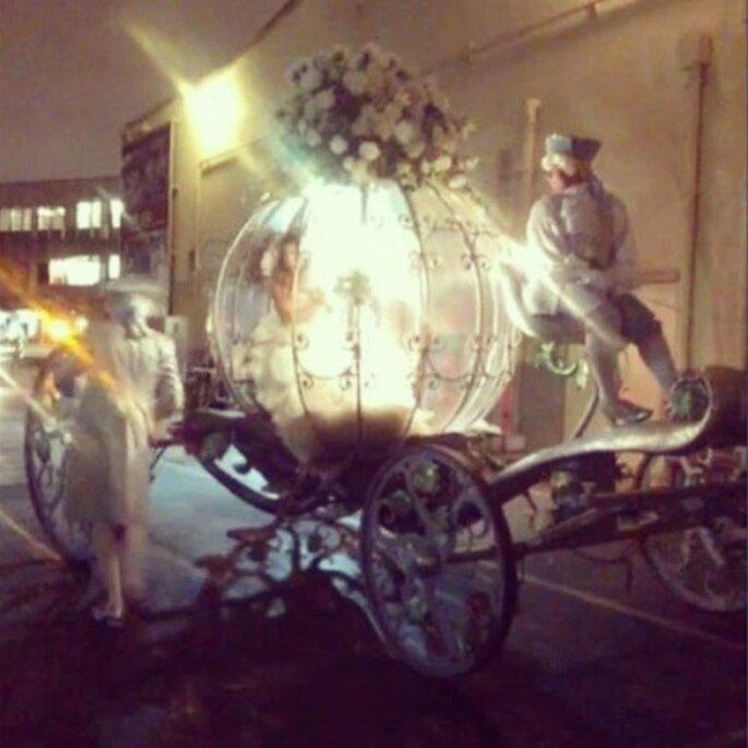 Mariah Carey llegó a la ceremonia en el carruaje de Cenicienta - Foto Mariah Carey Vine