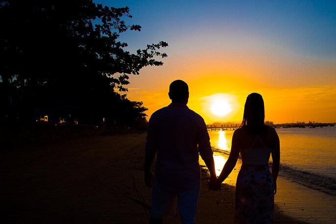 O pôr do sol que encanta todos os noivos