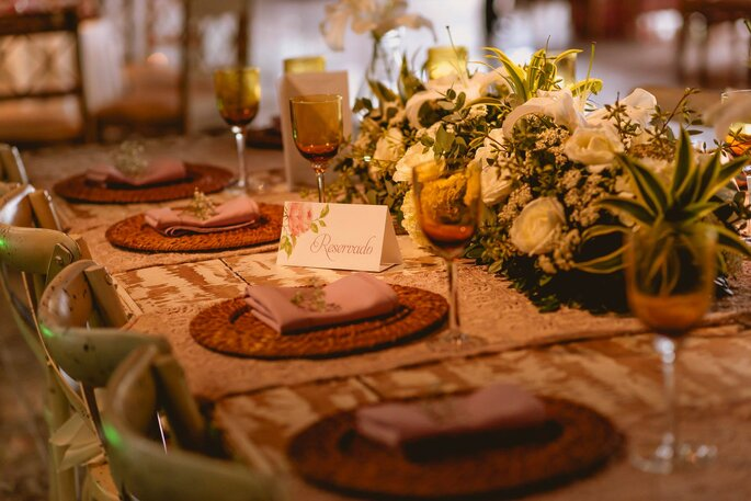 Mesa reservada festa