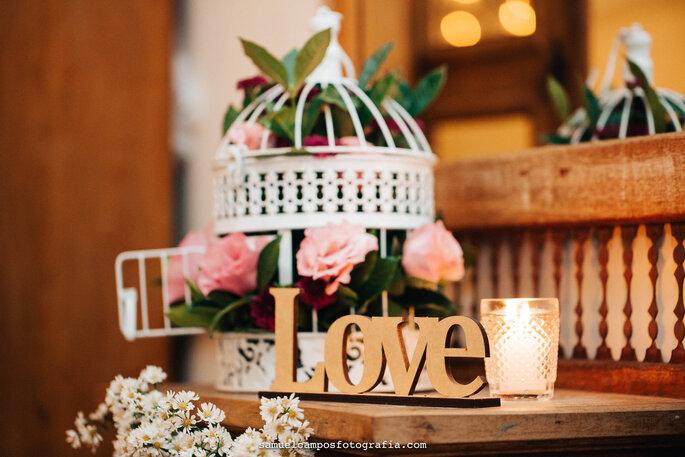 decoração casamento rústico chic