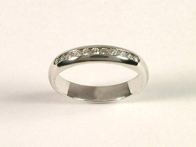 Alliance - Diamants or gris - 1000-alliances.com