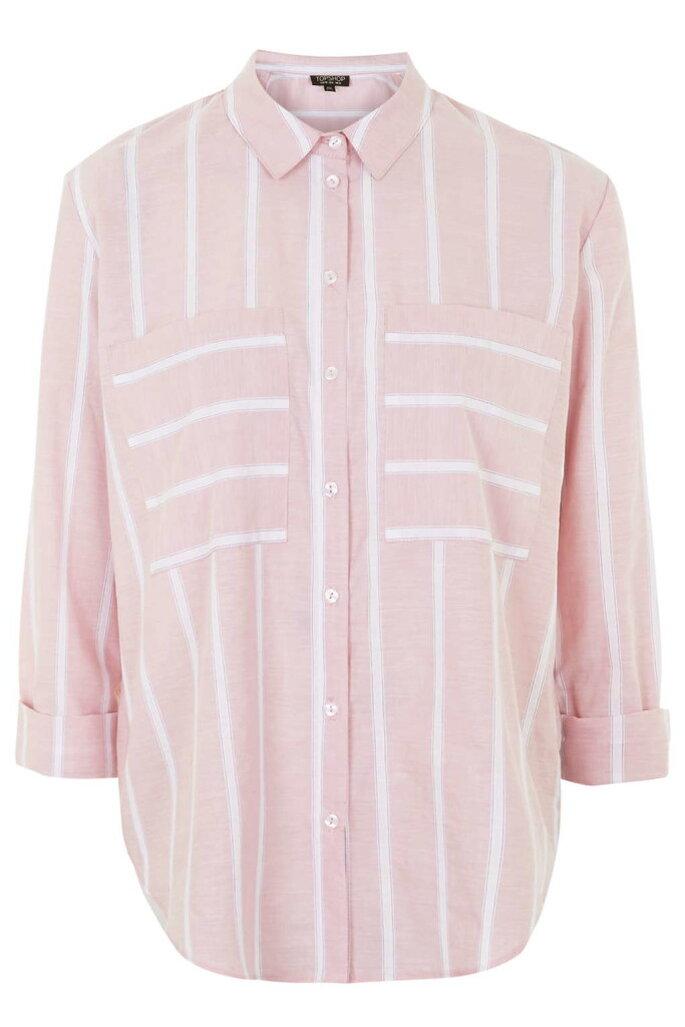 Camisa de rayas rosa de Topshop, 50 Euros
