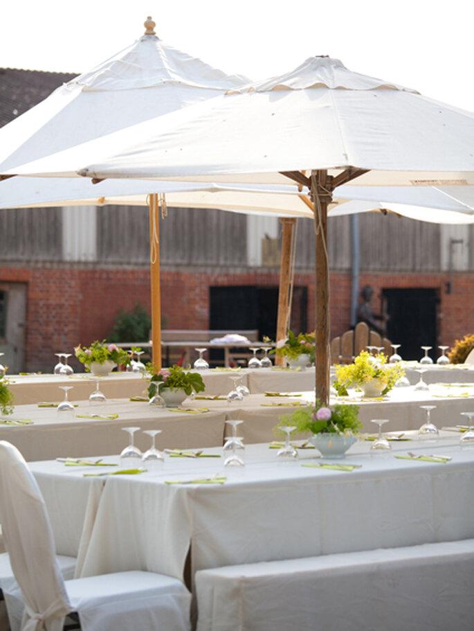 Hochzeitstafel im Freien