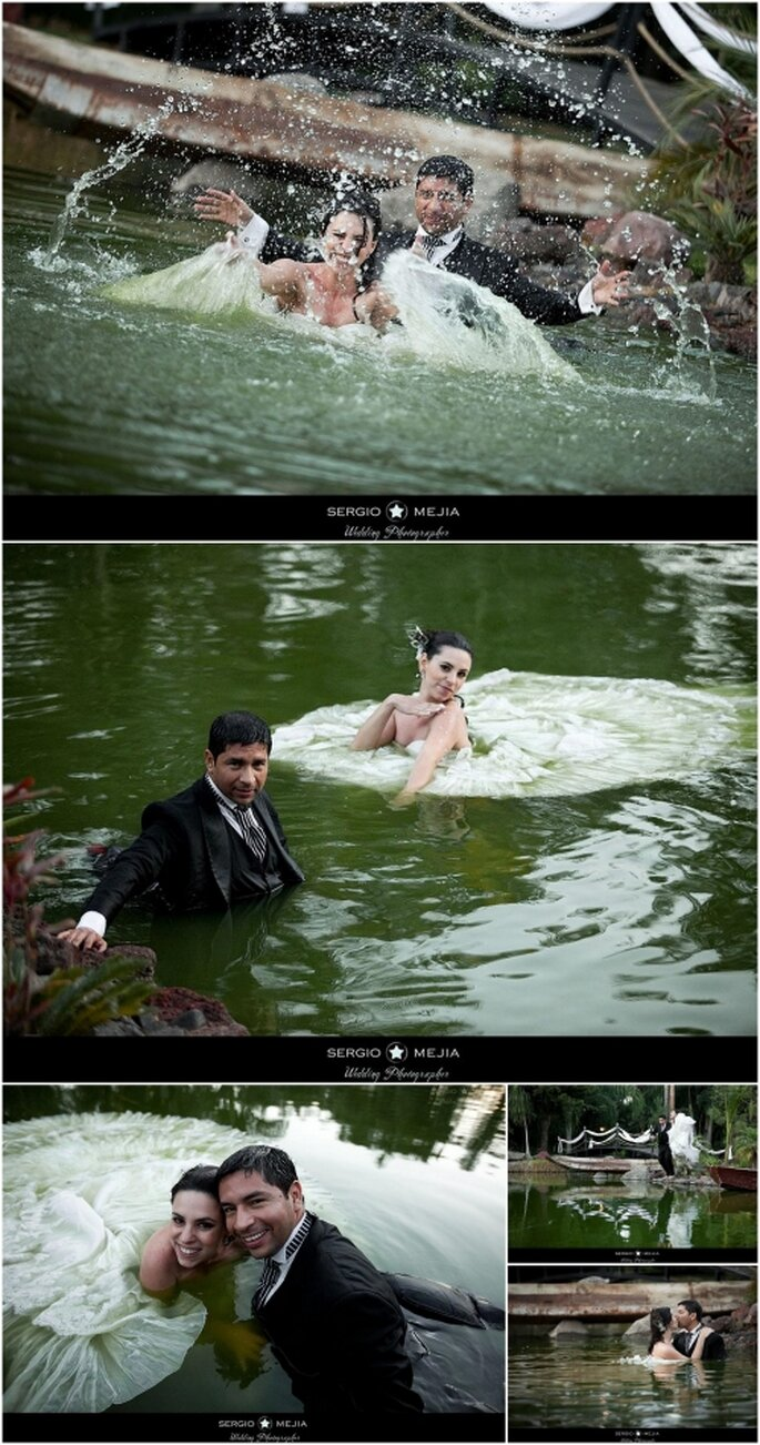 Trash the  Dress. Foto de Sergio Mejia