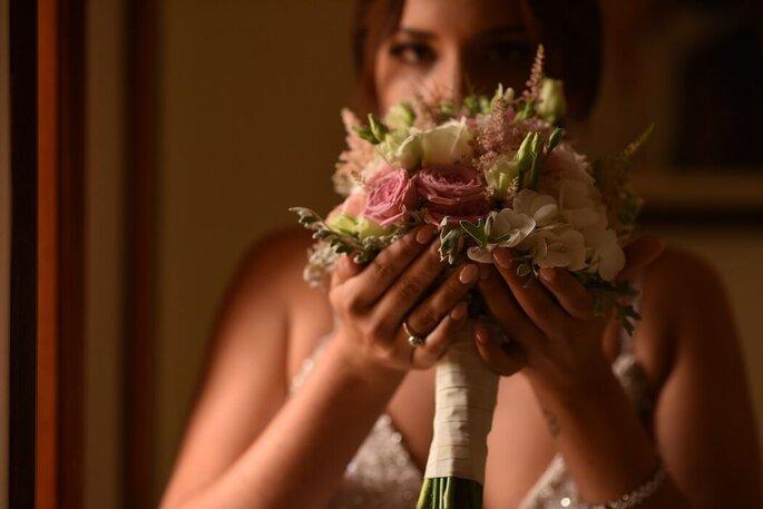 buquê de noiva romântico