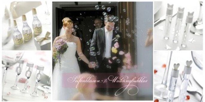 Seifenblasen - Weddingbubbles erhältlich beim ja-hochzeitsshop in Neckarhausen