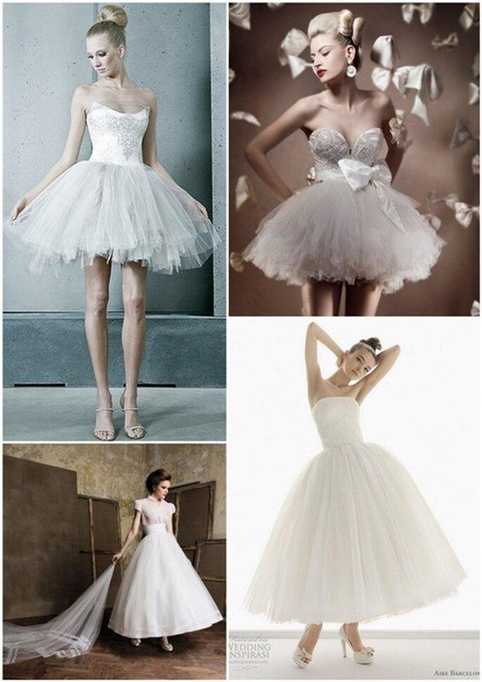 Vestidos de novia inspiración ballet - Leber Barbara, Elihav Sasson, Aire y Pronuptia