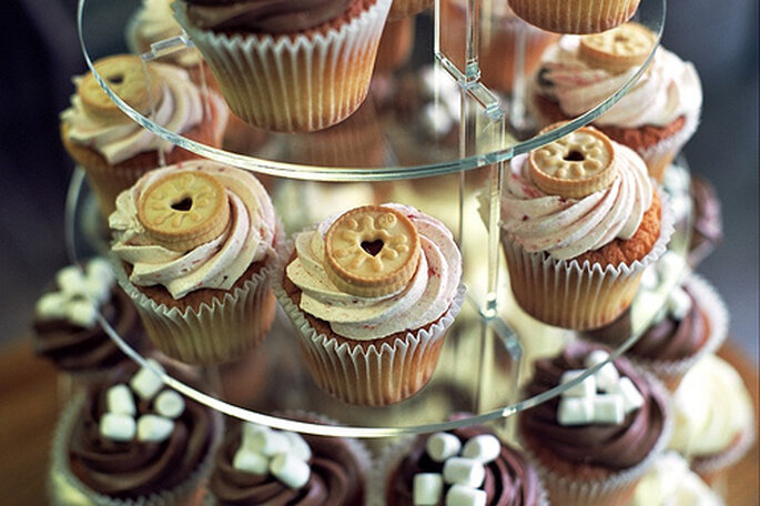 Cupcakes Tiers as Centerpiece