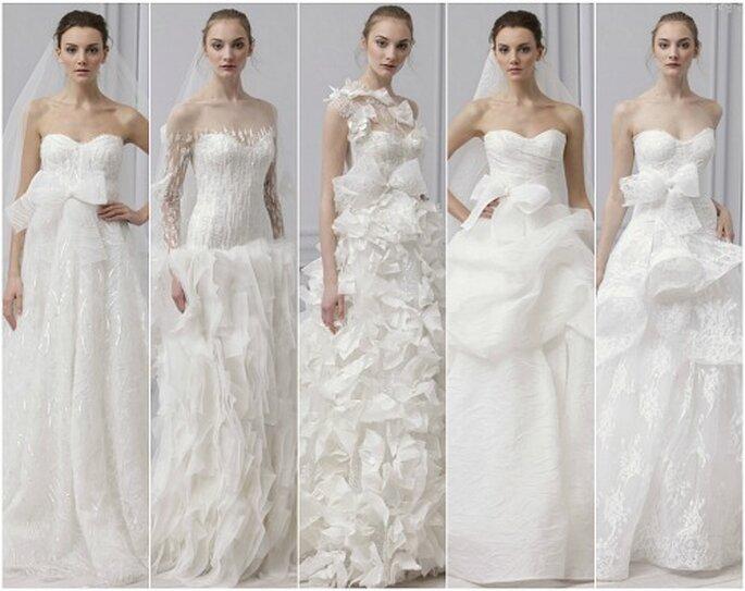 La collection de robes de mariée Monique Lhuillier 2013. Photo : Monique Lhuillier