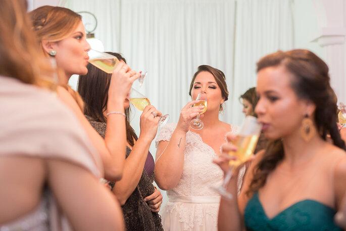Dia da noiva com amigas
