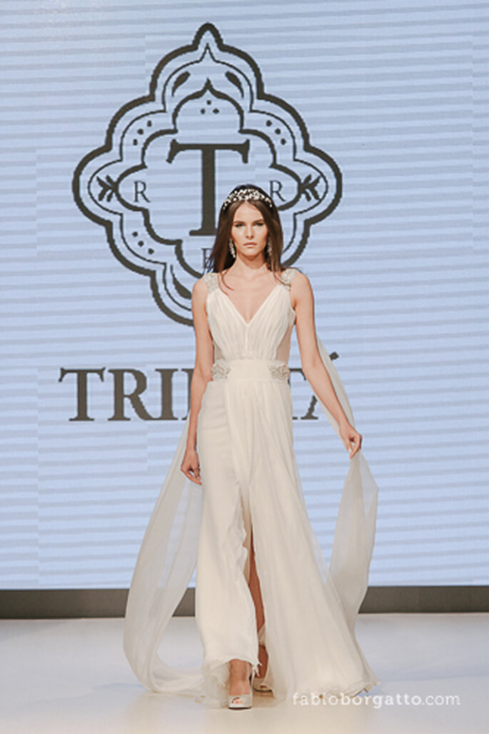Vestido de noiva da Trinitá Couture. CasaModa Noivas 2013 - Foto: Wilian Olivato