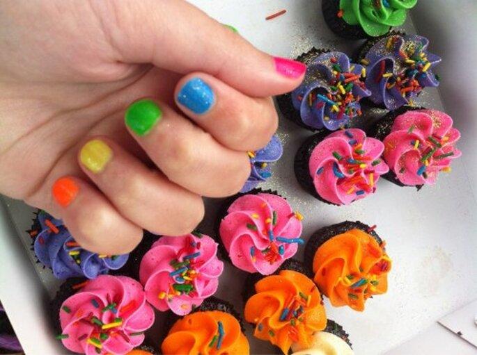 Cupcakes para boda. Foto de Miss Cupcakes.