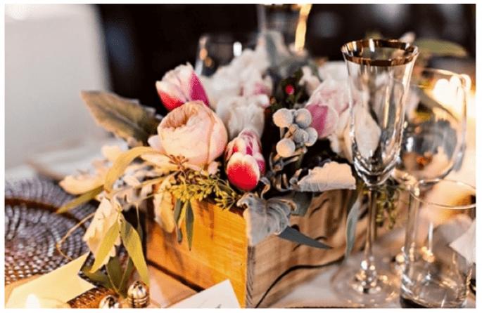 Los centros de mesa con flores más elegantes para una boda en 2014 - Foto InbalSivan