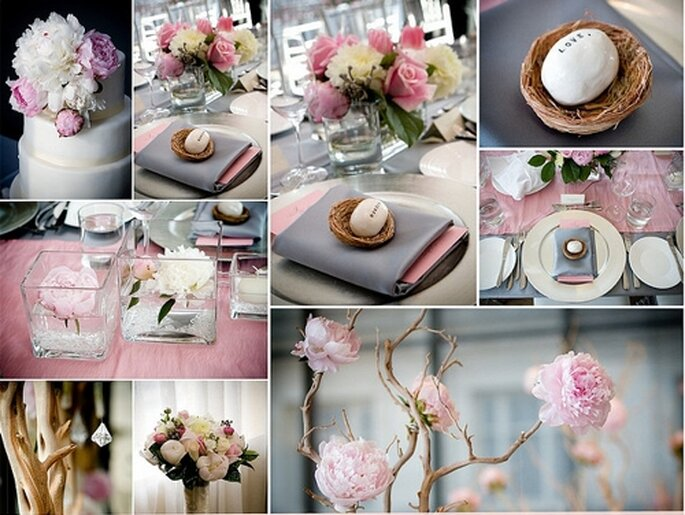 Romantisch und m rchenhaft hochzeitsdekoration in rosa for Hochzeitsdekoration