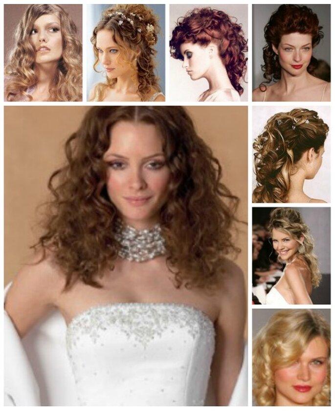 Hay un montón de peinados de novia para cabellos rizados