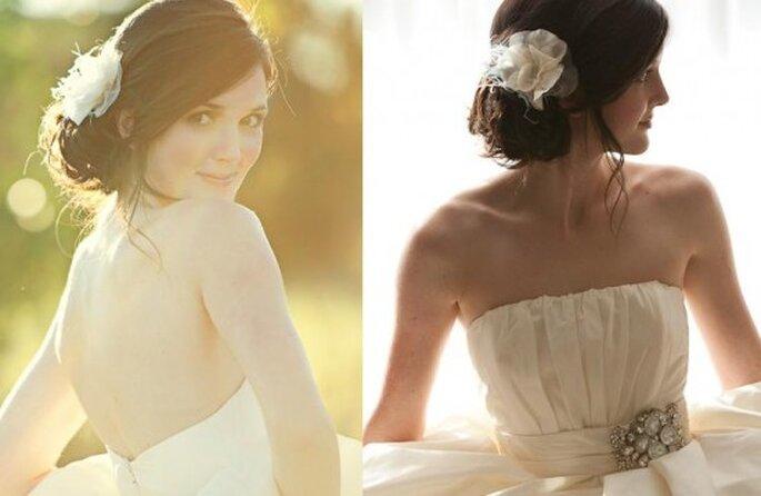 Peinados para novia. Foto de Abigail Seymour.