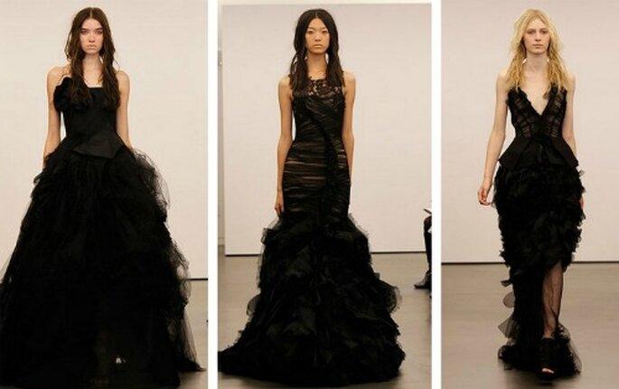 Tres vestidos de novia 'total black' de Vera Wang 2012