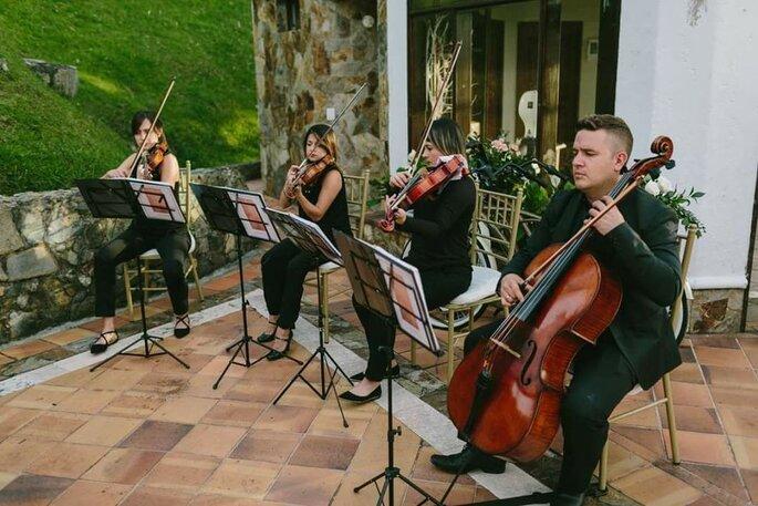 Cuarteto Ámbar Ensamble de cuerdas boda Bogotá