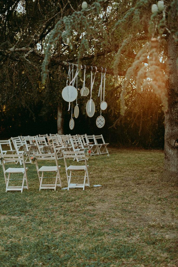 décoration mariage champêtre en Lot-et-Garonne dans le jardin familial