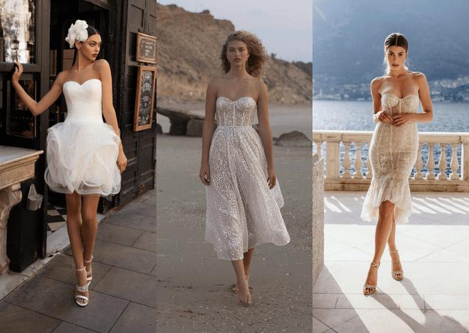 vestidos para boda cortos
