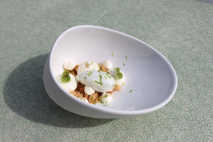 Délices Éphémères - dessert décomposé tel un crumble revisité