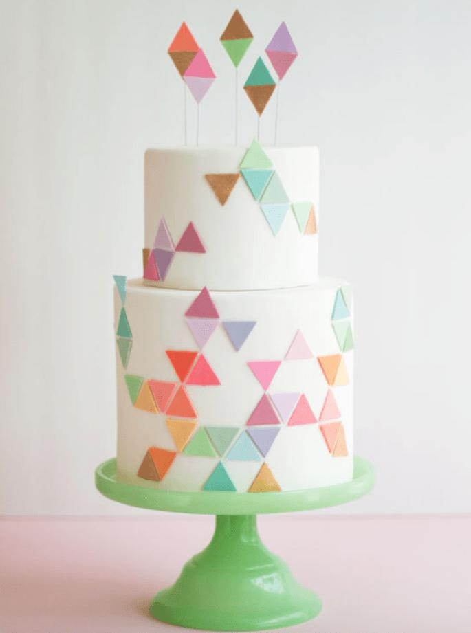 Bodas geométrica como tendencia 2015 - Erica Obrien Cake Design
