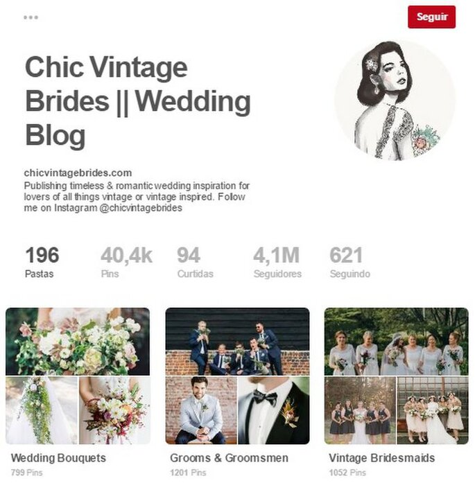 Chic Vintage Brides. Foto: Pinterest