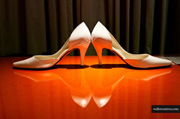 Chaussures de mariée : un accessoire majeur. - Photo : Walter Carrera