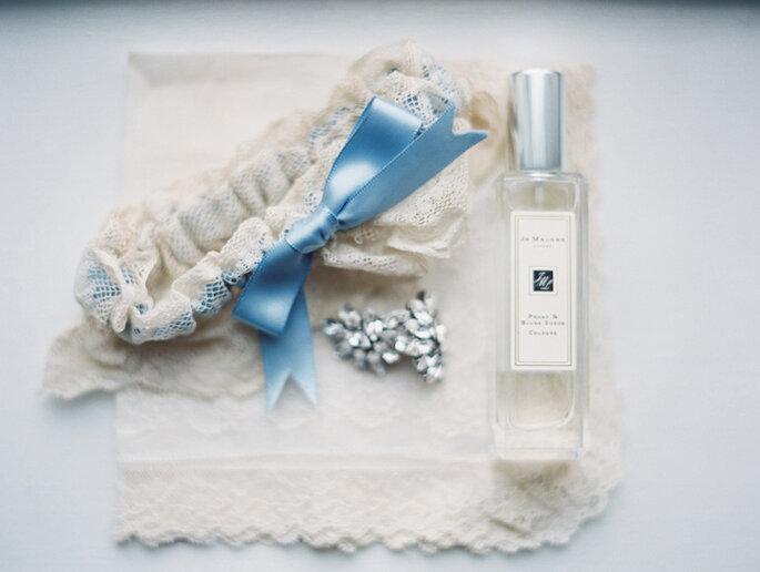 Boda decorada con colores azul y gris - Annie Parish