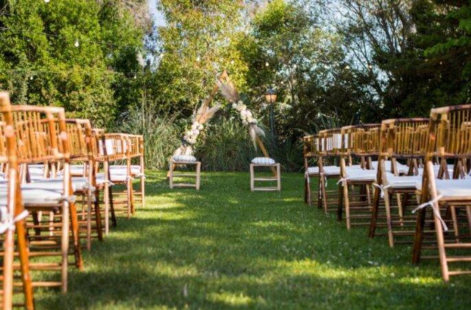 Jardín el Cortijo de Mónicofinca para bodas en Madrid
