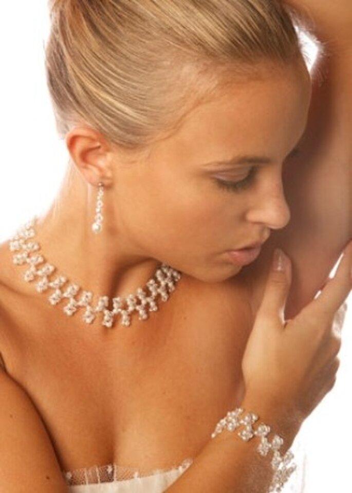 Collier de mariée Perles et Cristal