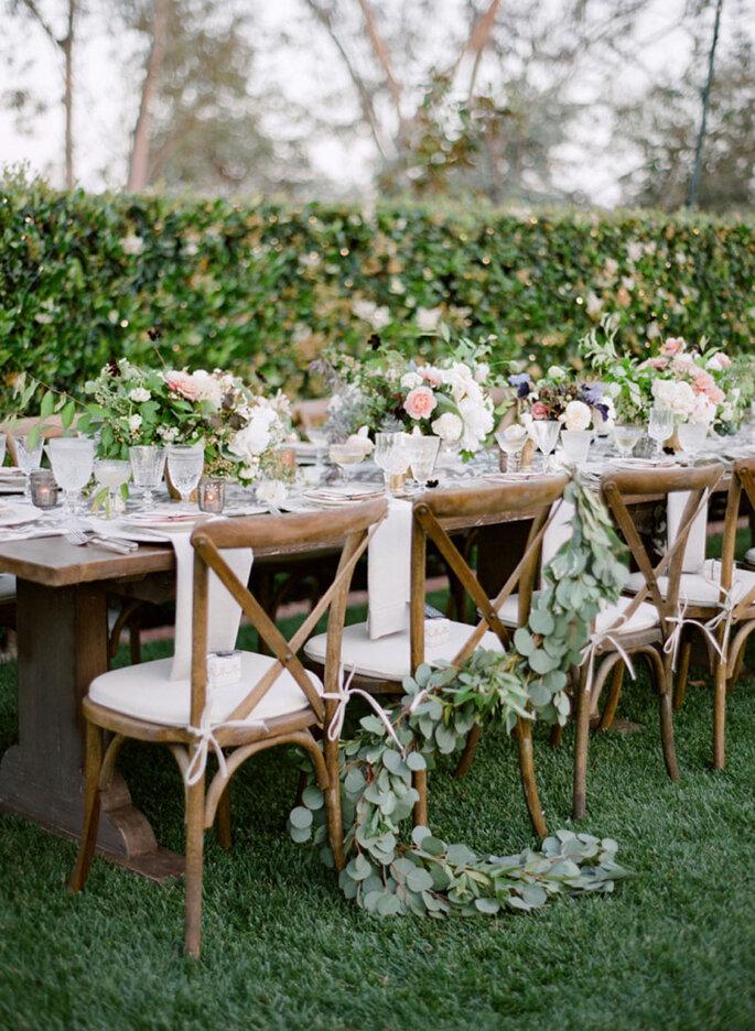 Hochzeitstisch Gartenhochzeit rustikal