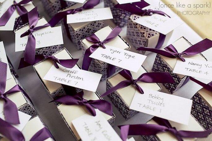 Cadeaux d'invités : une délicate attention pour les convives de votre mariage - Photo : Once like a spark