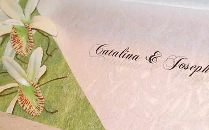 Un toque de verde en vuestra invitación le otorga frescura