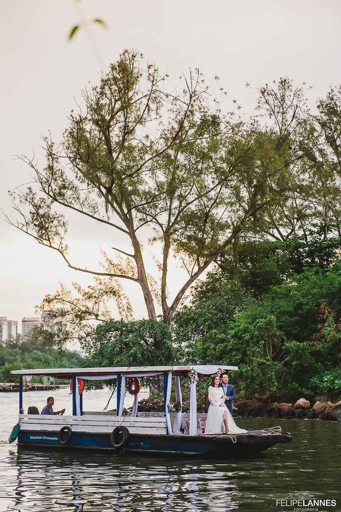 Chegada noivos na ilha