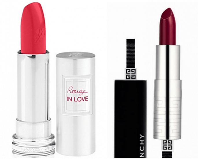 Rouge in love love y Rouge Interdit Lipstick in Lively Carmine - Foto Lancôme y Givenchy