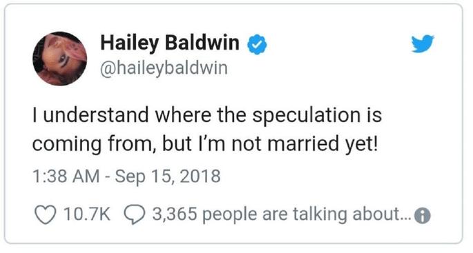 Twitter Hailey Baldwin