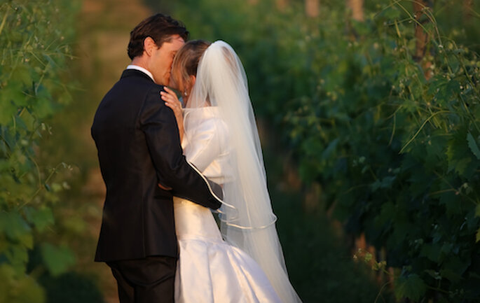 Una española y un italiano unidos por el vino y el amor. Foto: Sandro Bigozzi