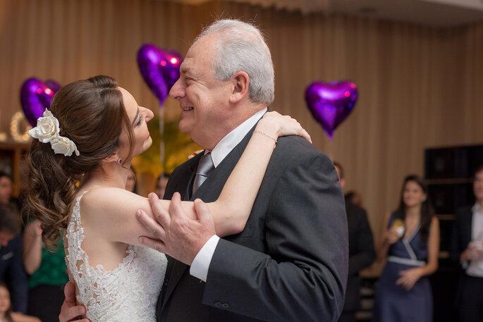 Dança noiva com pai